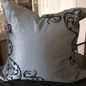 Grey accent pillow